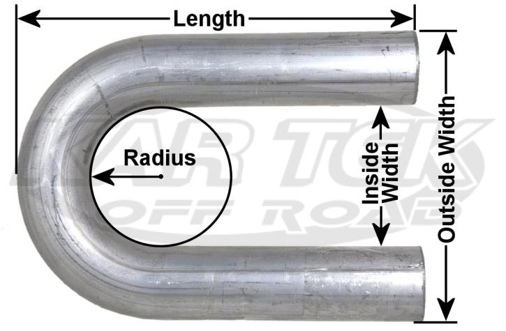 180 Degree U-Bend Mandrel Bent Mild Steel Round Tubing 1-1/4