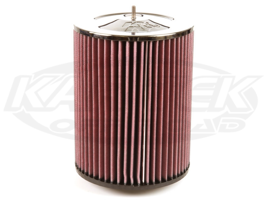 Shop Round Straight Cone Air Filters With Studded Chrome Top Now