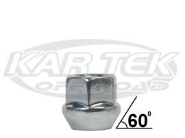 12mm 1 5 Thread Silver 60 Degree Tapered Open End Lug Nut Kartek Off Road