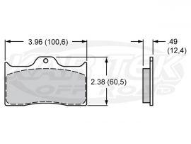 Wilwood 7112 Dynalite Brake Pads PolyMatrix E