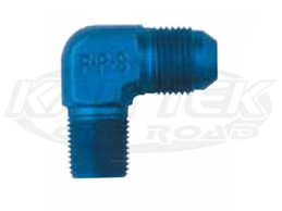 Shop NPT Pipe Thread Male to AN Male 90 Degree Blue Aluminum Now