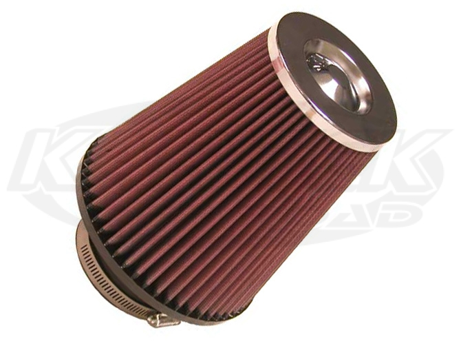 Shop Round Tapered Cone Air Filters With Chrome Top Now