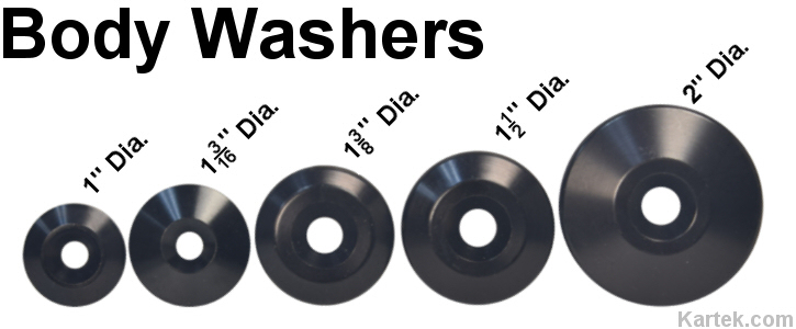 billet aluminum body washers for fiberglass fenders bed sides bodies or hoods