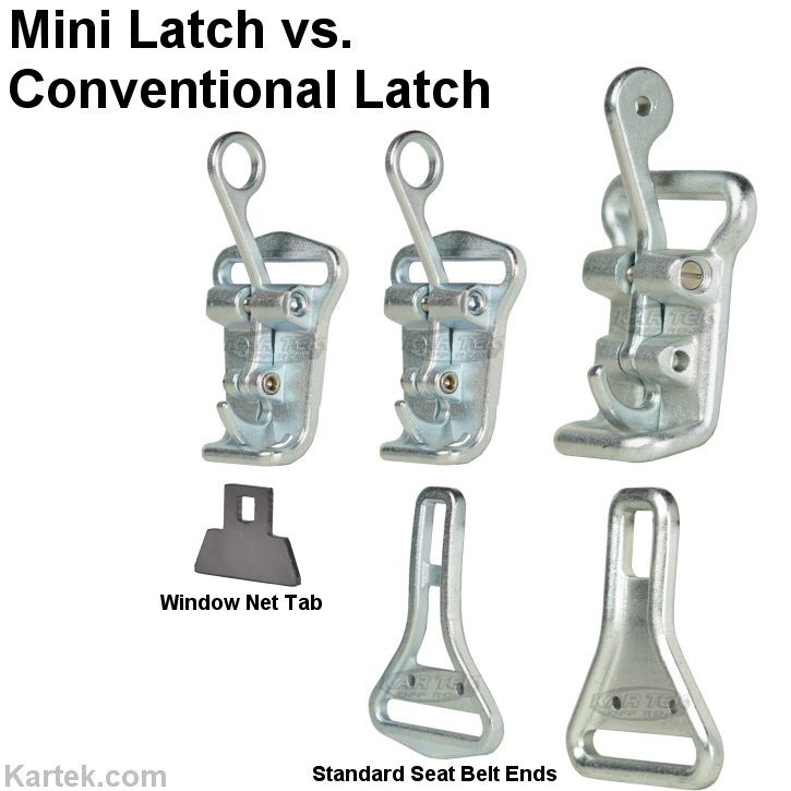bourdon forge 1282 mini latch and base assembly quick release lap belt versus conventional quick release latch