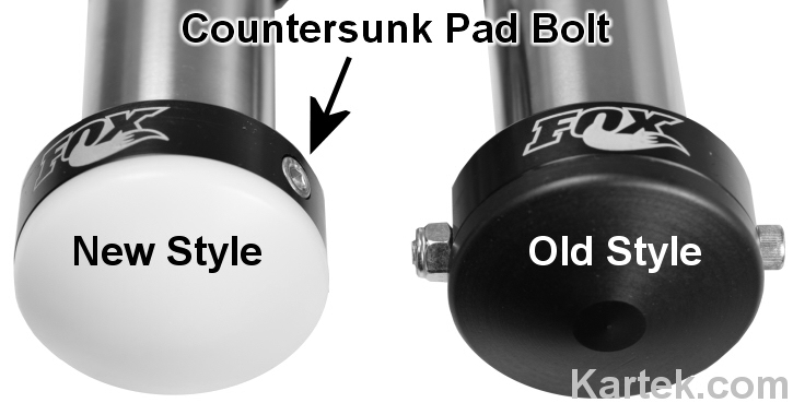fox shocks old style versus new style delrin bump stop pads