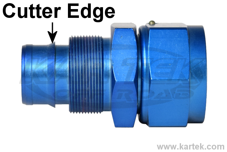 Fragola AN hose end blue cutter fitting