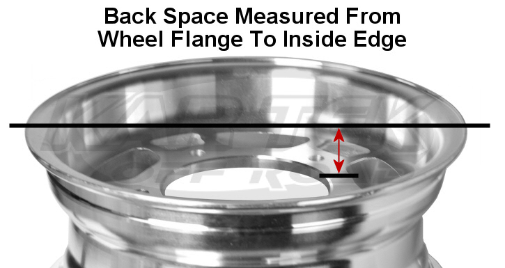 How is wheel back spacing measured?