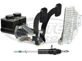 Jamar Performance Floor Mount Brake Clutch Master Cylinder Pedal Assembly With Short Reservoirs Kartek Off Road