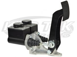 Jamar Performance Floor Mount Dual Brake Master Cylinder Pedal Assembly With Short Reservoirs Kartek Off Road