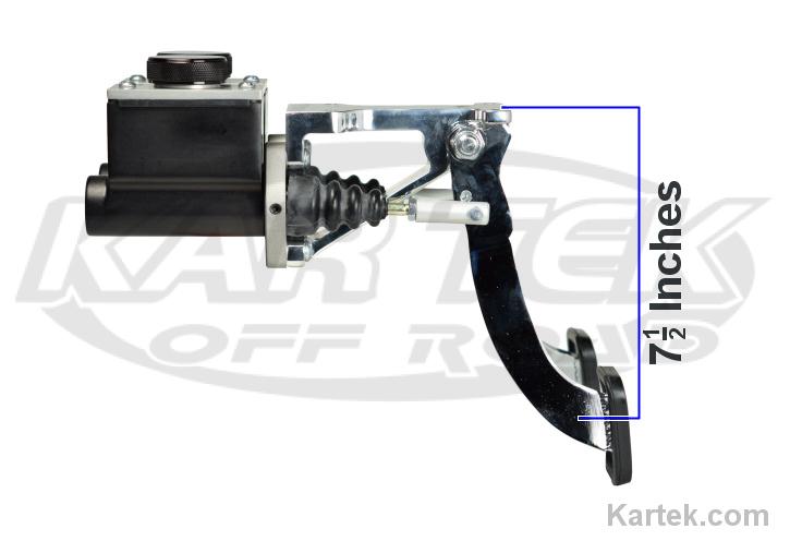jamar performance swinging mount brake clutch master cylinder pedal assembly  short