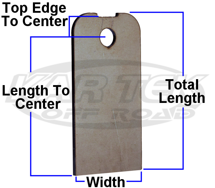 Steel weld on mounting tab for u-nuts dimensions