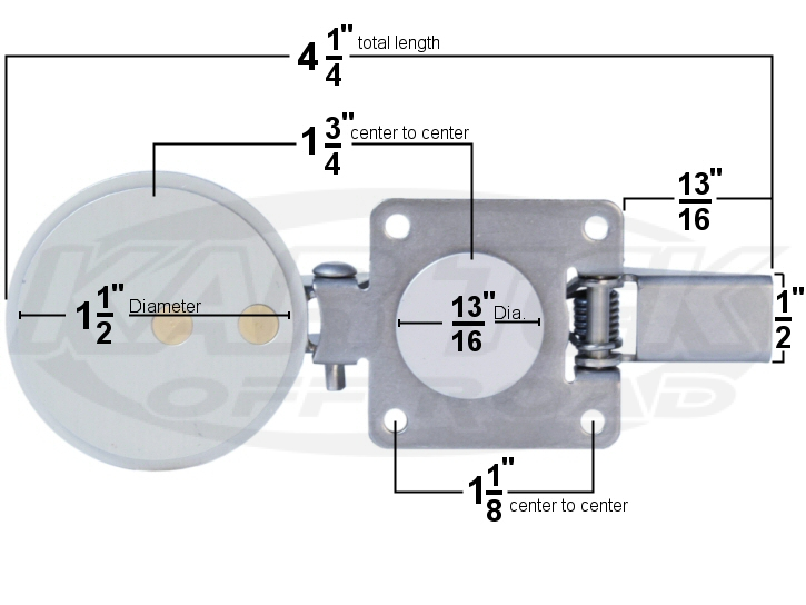 Hartwell style push button hatch latch dimensions