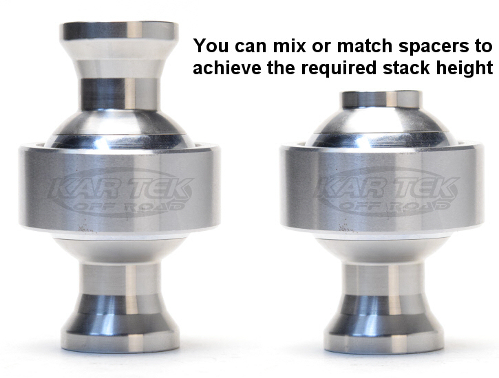 Mix or match misalignment spacers