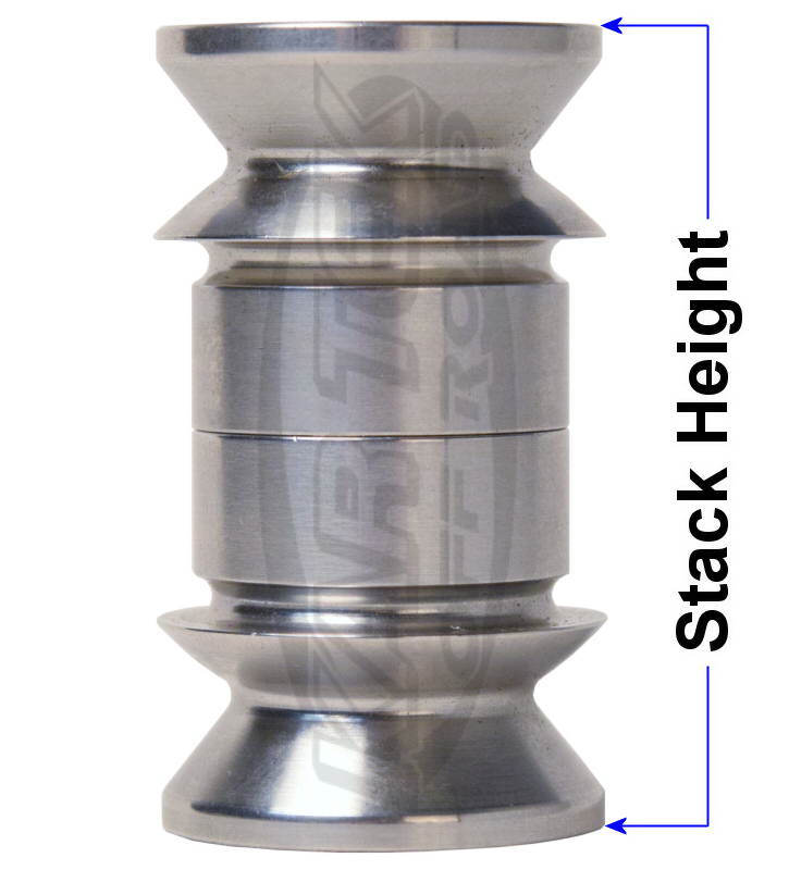 Stack height or width