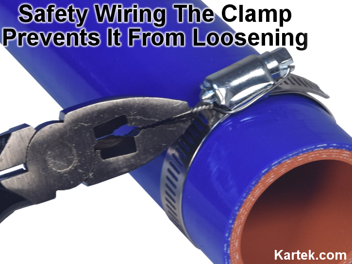 safety wiring hose clamps prevents the clamp from loosening up