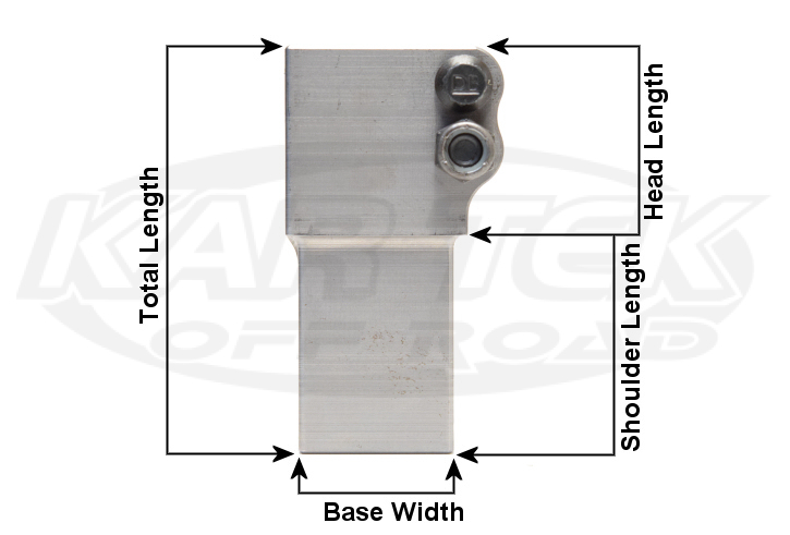 2 bolt square stepped threaded pinch bungs for heim joints or rod ends dimensions