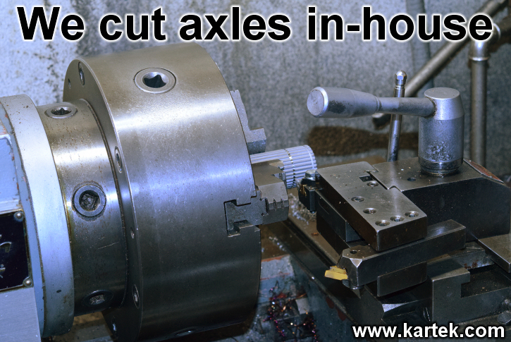 We cut and regroove axles in house