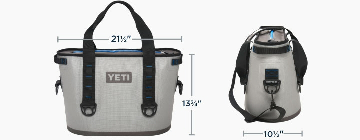 Yeti Coolers Hopper 20 Ice Chest Dimensions