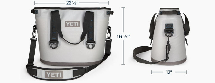 Yeti Coolers Hopper 30 Ice Chest Dimensions