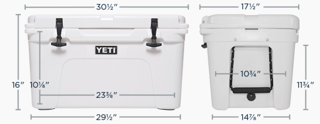 Yeti Coolers Tundra 65 Dimensions
