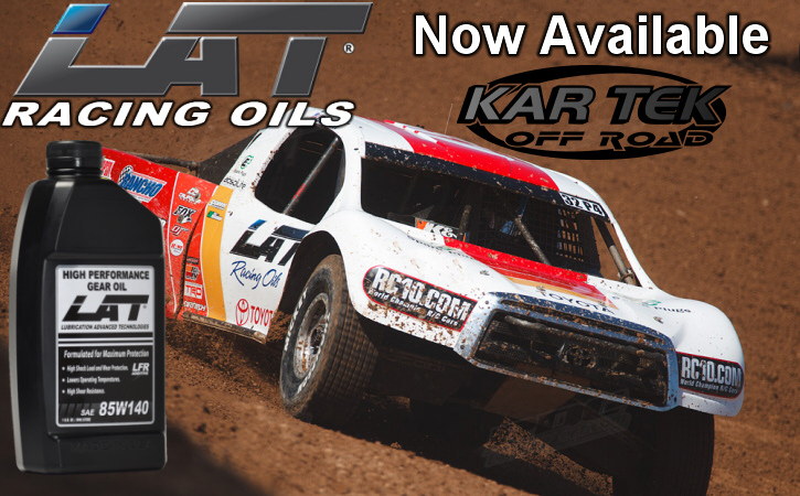 LAT Racing Oils Now Available At Kartek Off-Road